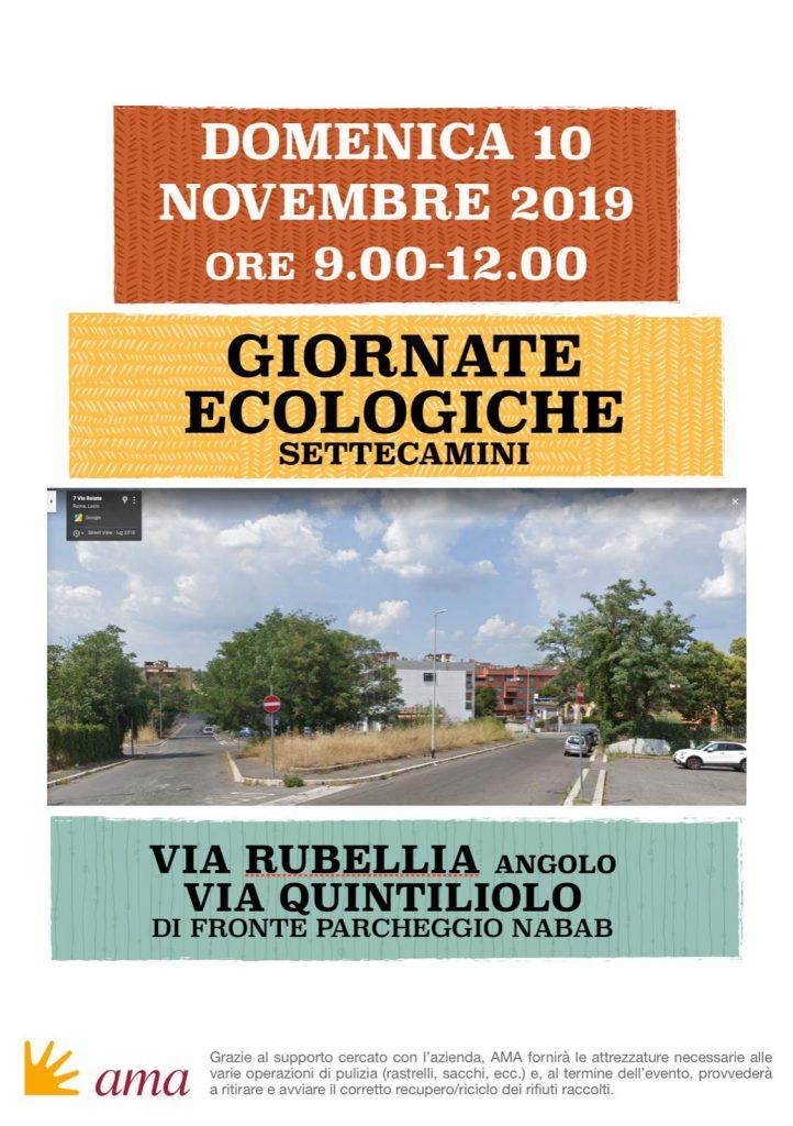 GIORNATA ECOLOGICA SETTECAMINI 10/11/2019